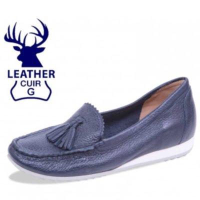 Caprice deer skin navy loafers