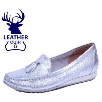 Caprice deer skin silver loafer