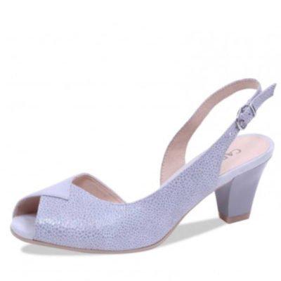 Caprice sandal grey/silver multi