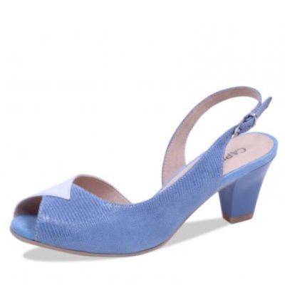 Caprice sandal sky blue/white