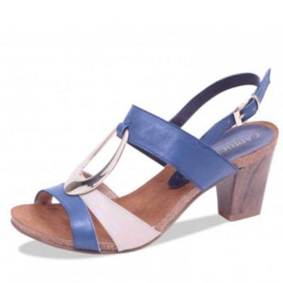 Caprice sandal navy/beige