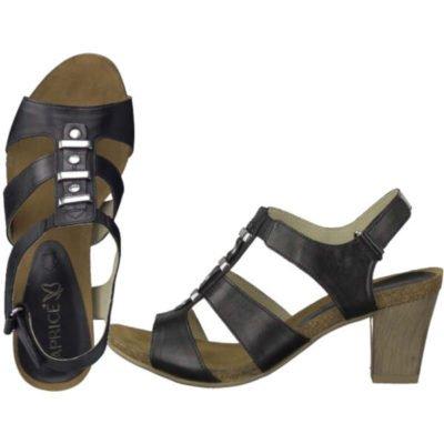 Caprice sandal black nappa