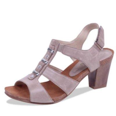 Caprice sandal taupe waxy nappa