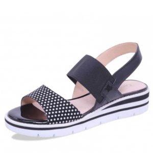 Caprice sandal black-dots