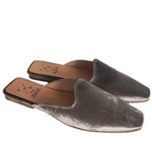 KMB slip on velvet gray