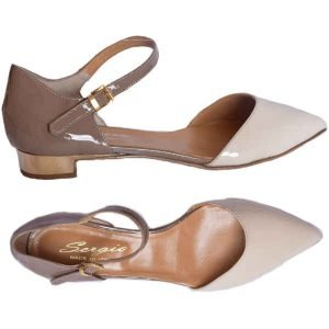Sergio shoes ivory-taupe 1530