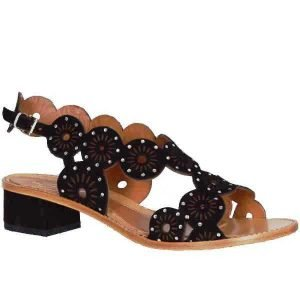 Sergio sandal black suede 3706