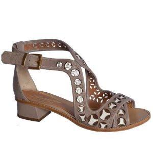 Sergio sandal taupe-white 3721