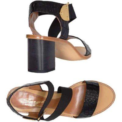 Sergio sandal black napa croc print 6805