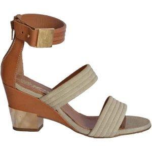 Sergio sandal ivory+tan 7766
