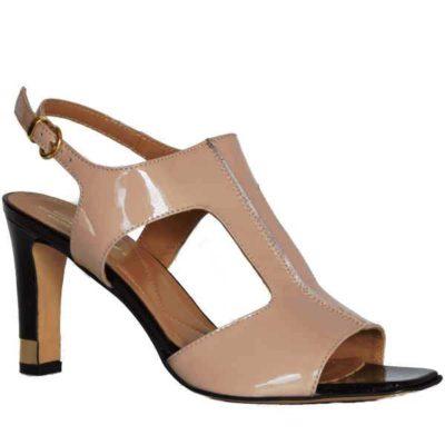 Sergio sandal  patent cipria 8763