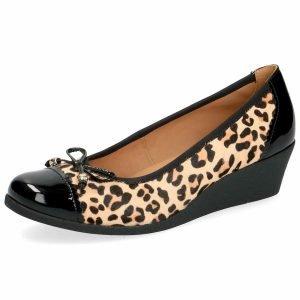 Caprice leopard wedge