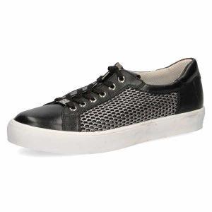 Elle black mesh sneakers by Caprice