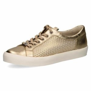 Elle gold mesh sneakers by Caprice