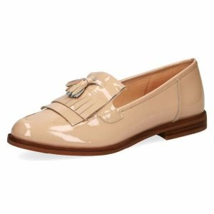 Beige patent by Caprice