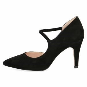 Tanya black suede by Caprice