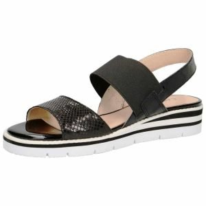Black light weight sandals by Caprice
