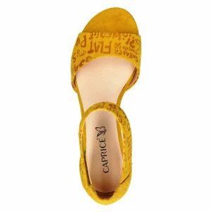 Yellow letters sandals By Caprice