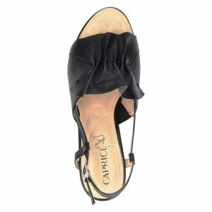 Black nappa sandals  by Caprice