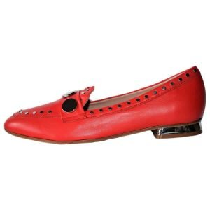red loafers made in Italy