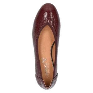 Tara bordeaux croc finish by Caprice