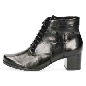 Greta black lace up boots by Caprice