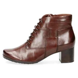 Greta brown lace up boots by Caprice
