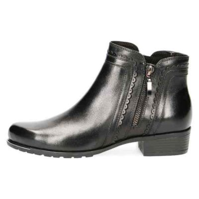 Diane black nappa ankle boots by Caprice