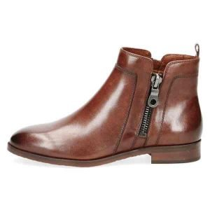Double zip brown ankle boots by Caprice