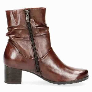 Brown soft nappa leather bootie by Caprice