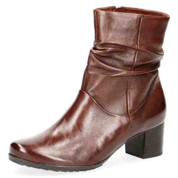 009 25364 23 342 270 600x600 - Brown soft nappa leather bootie by Caprice