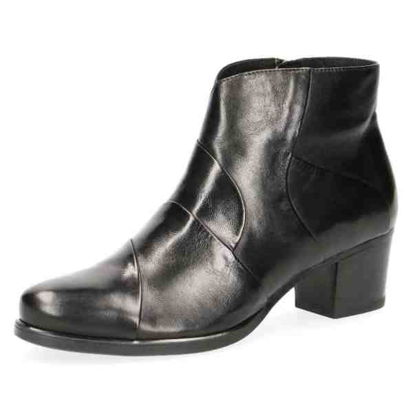 009 25373 33 040 270 - Black soft nappa leather ankle boots by Caprice
