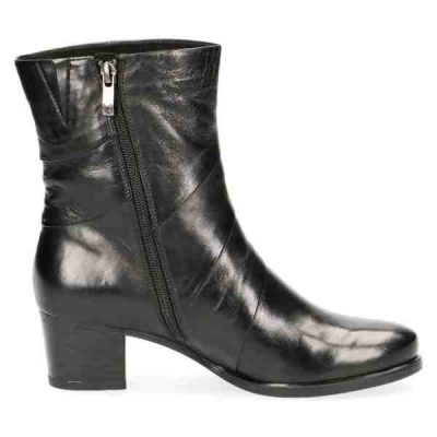 Black soft nappa leather booties by Caprice