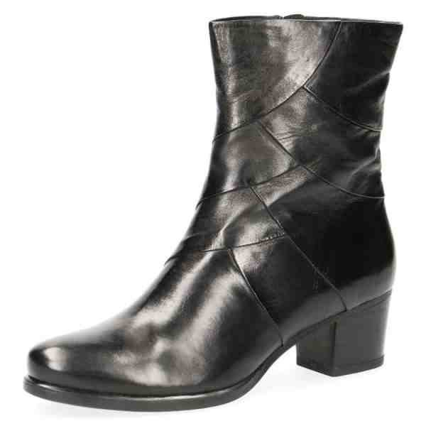 009 25374 33 040 270 600x600 - Black soft nappa leather booties by Caprice