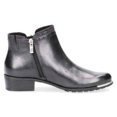 Diane navy nappa ankle boots by Caprice