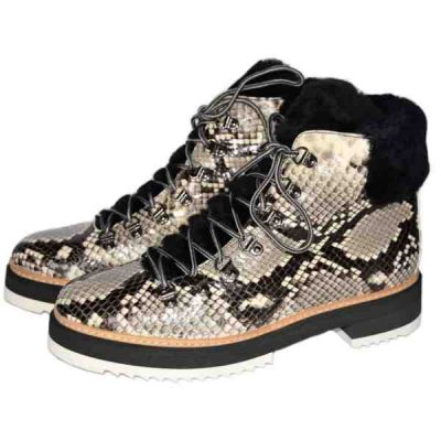 Snake lace up ankle boots handcrafted in Italy