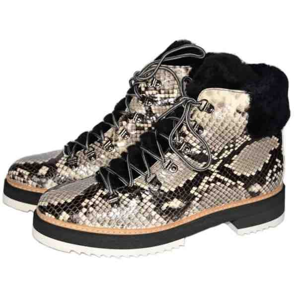 3432 600x600 - Snake lace up ankle boots handcrafted in Italy