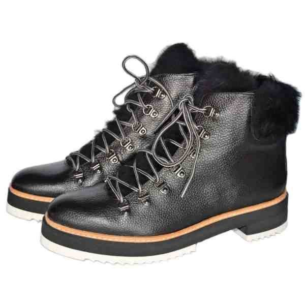 3432n 600x600 - Sergio lace up ankle boots with natural fur