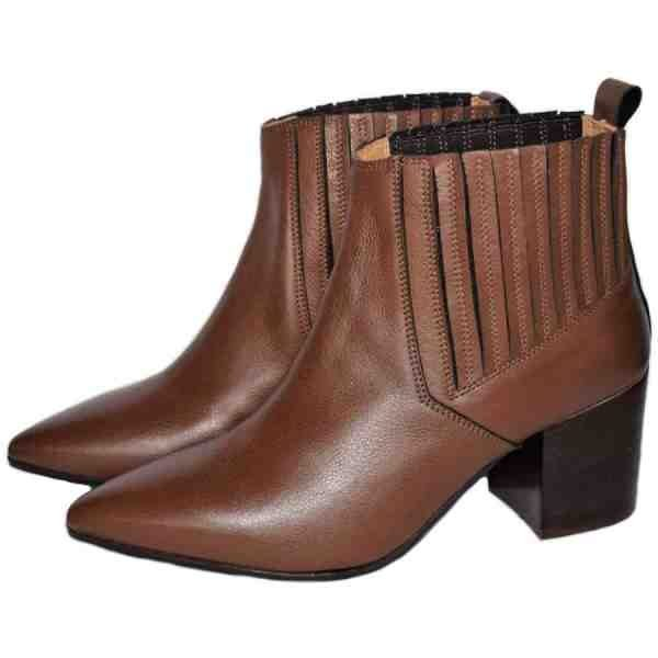 6281 600x600 - Sergio brown leather booties made in Italy