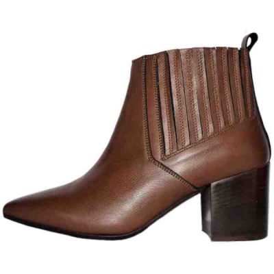 Sergio brown leather booties made in Italy