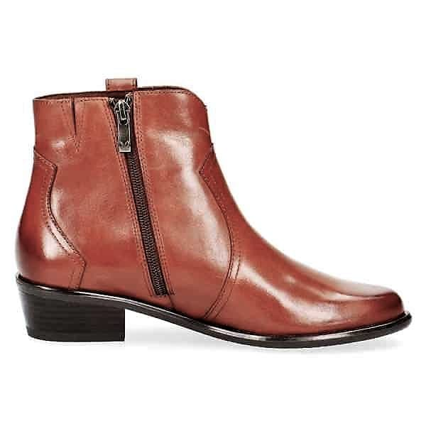 009 25348 23 303 090 - Caprice tan nappa leather short boots