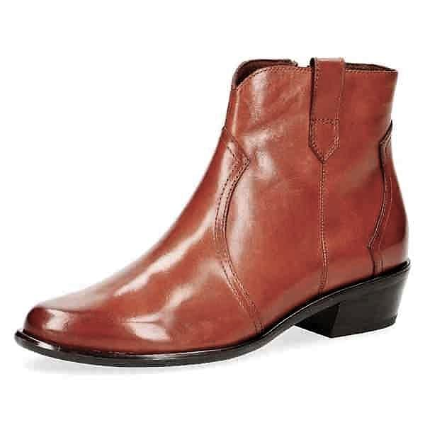009 25348 23 303 270 - Caprice tan nappa leather short boots