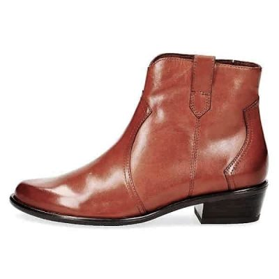 Caprice tan nappa leather short boots