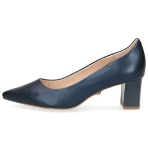Navy pearly pumps by Caprice