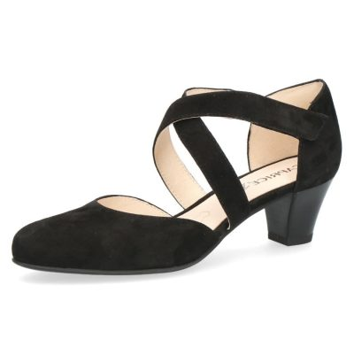 Cristy black suede shoes by Caprice
