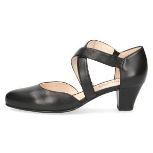 Cristy black leather shoes by Caprice