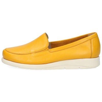 Yellow nappa flats by Caprice