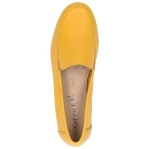Yellow nappa flats by Caprice