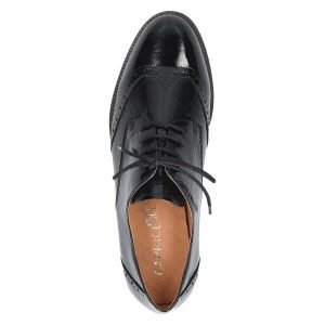 Patent leather lace ups by Caprice