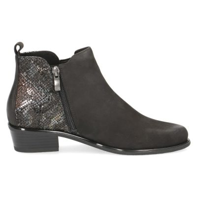 Polly black combo boots